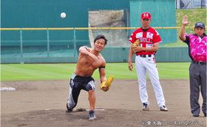 6/1 プロレスラー吉野正人選手始球式のお知らせ